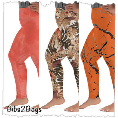 The Holiday Collection - Plus Size Full Length Leggings From Bibs2Bags